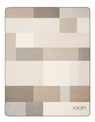 JOOP! Wohndecke  JOOP!  Bold sand-natur 150 x 200 cm aus Baumwollmischung