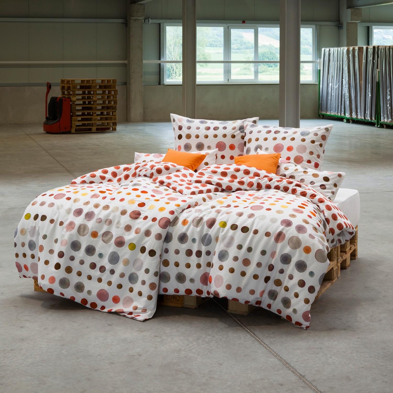 estella mako satin bettw sche spot 4709 930 ziegel. Black Bedroom Furniture Sets. Home Design Ideas