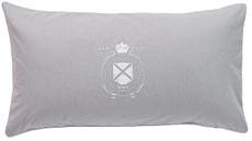 GRAND DESIGN Kissenbezug  OXFORD grey-white  40 x 80 cm 100 % Baumwolle mit Druck