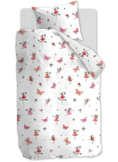 Beddinghouse Kinderbettwäsche KIDS Butterfly Girl pink aus 100% Baumwolle
