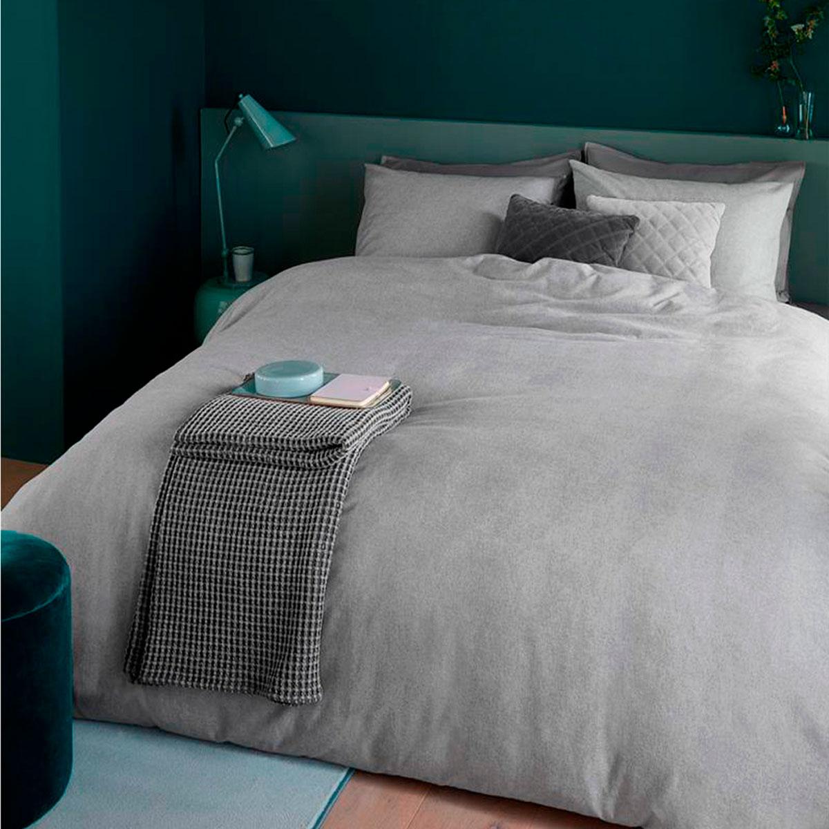 Beddinghouse Biber Bettwäsche Frost Light Grey Uni