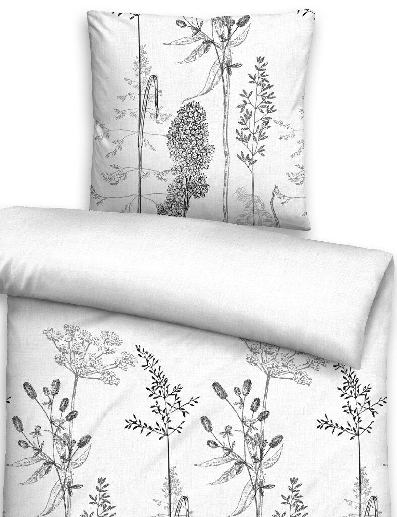 biberna fein biber bettw sche 3616 080 waldblumen schwarz. Black Bedroom Furniture Sets. Home Design Ideas