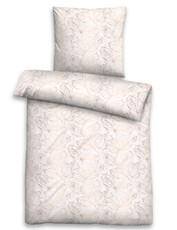 Biberna Edelflanell Bettwäsche 85123-544 Blätter taupe 100 % Baumwolle wärmend