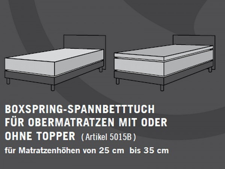 schlafgut boxspring spannbettlaken 180x200 200x220 cm. Black Bedroom Furniture Sets. Home Design Ideas