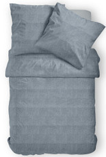 Janine Mako-Satin Bettwäsche Messina blau 43075-02 100% Baumwolle