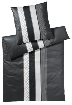 JOOP! Bettwäsche Cornflower Stripes   99 deep coal Stone elegant exklusiv