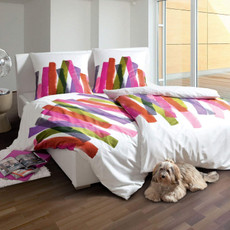 Janine Bettwaesche Mako- Satin modern art 4102 multicolor