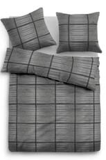 Tom Tailor Flanell Bettwäsche Kacheln 9877-821 black aus 100 % Baumwolle