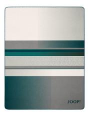 JOOP! Wohndecke Clash Petrol-Graphit 150 cm x 200 cm Baumwollmischung