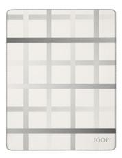JOOP! Wohndecke Square Ecru-Ash 150 cm x 200 cm Baumwollmischung