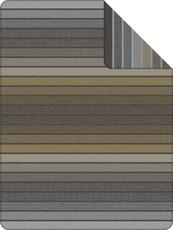 Ibena Wohndecke Jacquard Decke BELMONT anthrazit-grün 150 x 200 cm gestreift