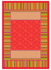 Bassetti Plaid |  PORTOFINO V1 rot 135 x 190 cm Ornamente mediterran gesteppt