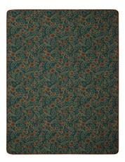 Biederlack Wohndecke Winterberry grün-rostbraun 150 x 200 cm aus Baumwollmischung
