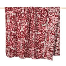 PAD Decke Wohndecke Scandi red Weihnachten 150 x 200 cm Baumwollmischung