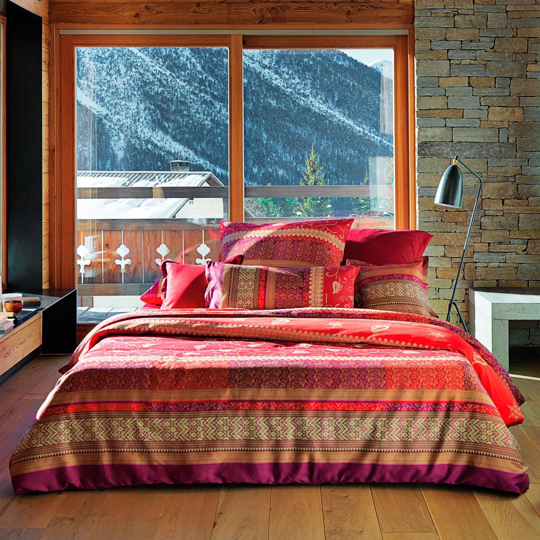 Bassetti Mako Satin Bettwasche Bernina V1 Rot