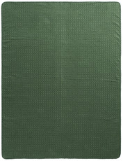 Biederlack Wohndecke Atomic Pattern Green 150 x 200 cm Recyclinggarnen