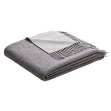 Biederlack Wolle-Kaschmir Soft Impression grau-silber 130 x 170 cm klassisch