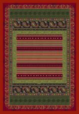 Bassetti Plaid CERVINO V1 Rot 135 x 190 Ornamenten Muster gesteppt.
