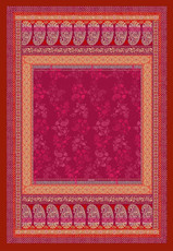 Bassetti Plaid MONTE ROSA V1 Rot 135 x 190 Ornamenten Muster gesteppt.