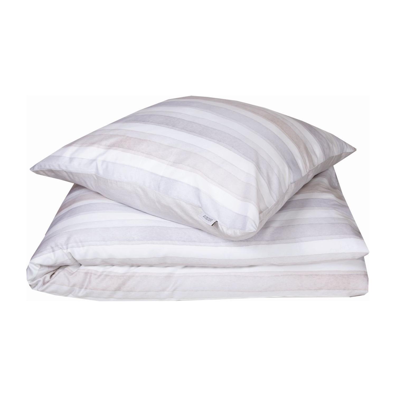 sch ner wohnen mako satin bettw sche millie beige grau. Black Bedroom Furniture Sets. Home Design Ideas