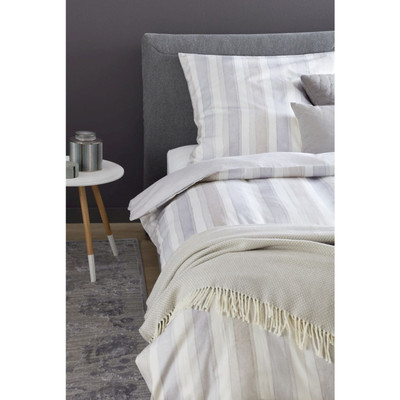 Schöner Wohnen Bettwäsche MILLIE Beige-Grau 100% Baumwolle  Pastell Farbverlauf