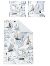 Irisette Mako-Satin Bettwäsche Juwel-K 8896-90 maritim Digitaldruck Wendeoptik