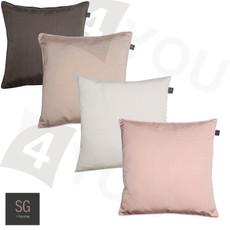 SG home Kissenhülle Minimo uni 45 x 45 cm uni Polyester mit RV klassisch elegant