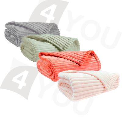 Winkler Wohndecke Minos 150 x 200 cm Felloptik Streifen Muster 100% Polyester