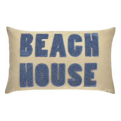 Pad Kissenhülle Beach House Kissenhülle 30 x 50 cm taupe  aus Materialmix