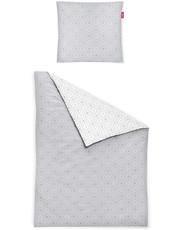 freundin Mako-Satin Bettwäsche Corado  8947-11 grau geometrisches Muster