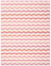 Biederlack Wohndecke Colour-Cotton Zickzack Korallrosa 150 x 200 cm  gemustert