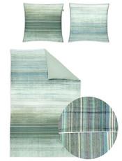 Irisette Mako-Satin Bettwäsche Juwel-K 8888-30 grün  Digitaldruck Streifenoptik