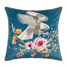 pad concept Kissenhülle Eagle blue 45 x 45 cm 100% Polyester Samt mit bestickt