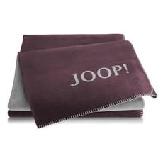 JOOP! Doubleface Wohndecke 150 cm x 200 cm Bordeaux-Graphit Baumwollmischung