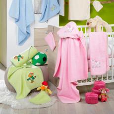 Ross Walk Frottier 100 x 100 cm Baby Kapuzentuch  100% Baumwolle zwei Farben