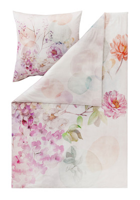 Estella Mako Satin Bettwäsche Bloom multicolor 4735-985 geblümt 100% Baumwolle