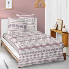 Irisette Biber Bettwäsche Feel lila 8110-70 aus 100 % Baumwolle