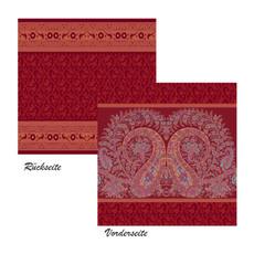 Bassetti Deko-Kissenhülle Recanati R1 rot  60 x 60 cm grob gewebt Ornamente