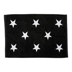 done.®  DAILY SHAPES STARS Badvorleger 50 x 70 cm  black Frottee 100% Baumwolle