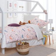 Estella Mako-Interlock-Jersey Kinder Bettwäsche Robin Wood rosa 100% Baumwolle