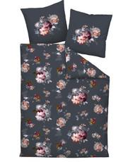 Janine Mako-Satin Bettwäsche Secret Garden 47002-08 grau rosé Foto