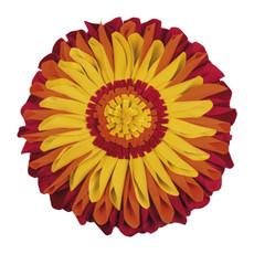 Pad runde Kissenhülle SUNFLOWER Ø 35 cm orange in Blumenform 100% Polyester