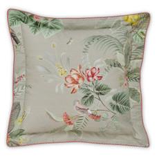 PIP Studio Dekokissen Kissen Zierkissen Floris khaki 45 x 45 cm Blumenmotiv