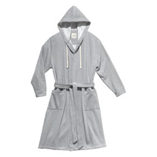 Tom Tailor Bademantel Bathrobe Melange 100504-901 Uni-Sex grau mit Kapuze