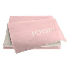 JOOP! Wohndecke Doubleface Melange 150 x 200 cm Rosé-Natur Baumwollmischung