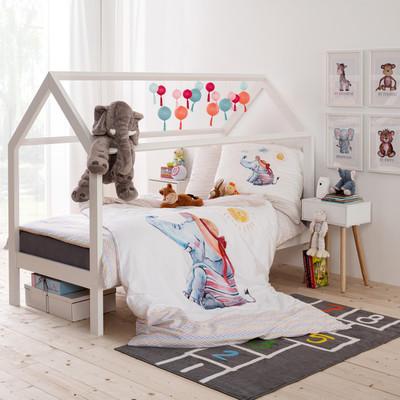 Estella Baby Bettwäsche Willy 7227-985 bunt Baumwolle 100 x 135 + 40 x 60 cm