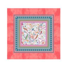 Bassetti Tischdecke BURANO R1 rosa grobe feste robuste Stoff-Qualität 110 x 110 cm