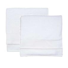 WALRA Handtuch-2er Set weiß 50 x 100 cm  Cotton 100% Baumwolle uni klassisch