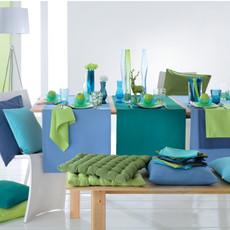 Pichler Tischläufer Como uni 50 x 150 x cm  Baumwoll-Polyester  pflegeleicht